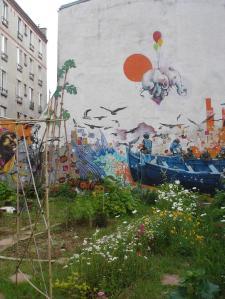 mur jardin
